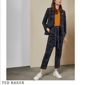 Ted Baker Carrie cabin check trousers size 5 (14)